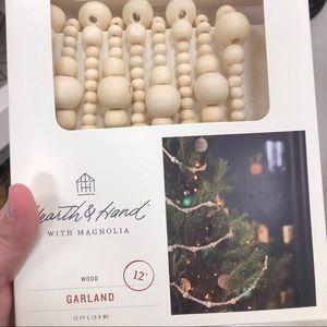 Hearth & Hand Magnolia Wood Christmas Tree Garland